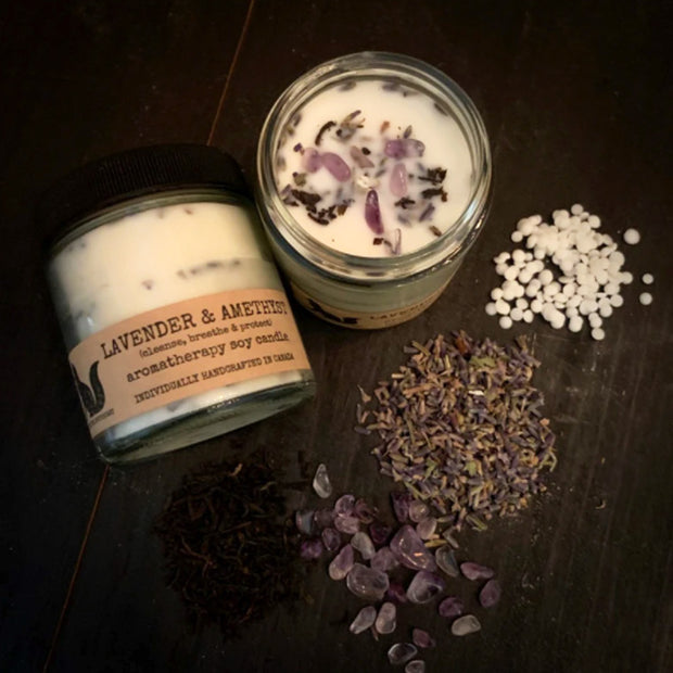Lavender & Amethyst soy candle