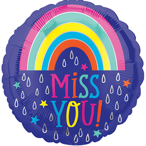 Miss you raindrops balloon
