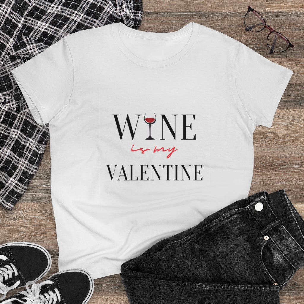 Wine Valentine - Women's Heavy Cotton Tee