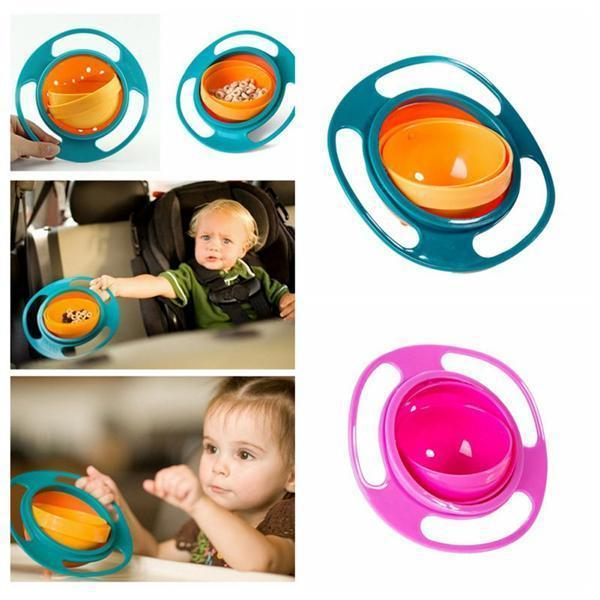 360-degree rotating leak-proof bowl