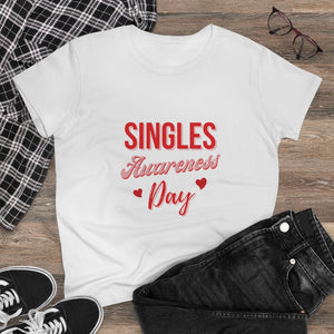 Singles Awareness Day - Women's Heavy Cotton Tee