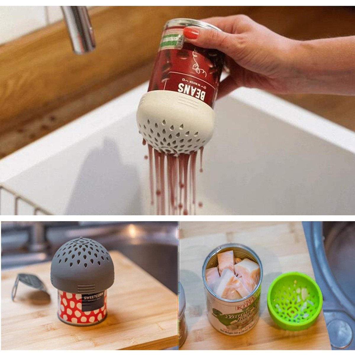 Multi-Purpose Silicone Colander