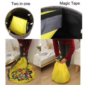 Portable Toy Clean-up and Storage Bags