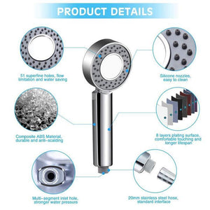 Double-sided Water Pressurized Shower Head Handheld High-pressure Sprinkler
