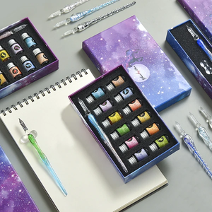 THE METEOR GRADIENT GLASS DIP PEN WITH INK GIFT SETS