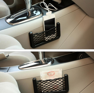 Auto Storage Net Bag with Sticker Elastic Storing Net Car Styling Inner Accessories