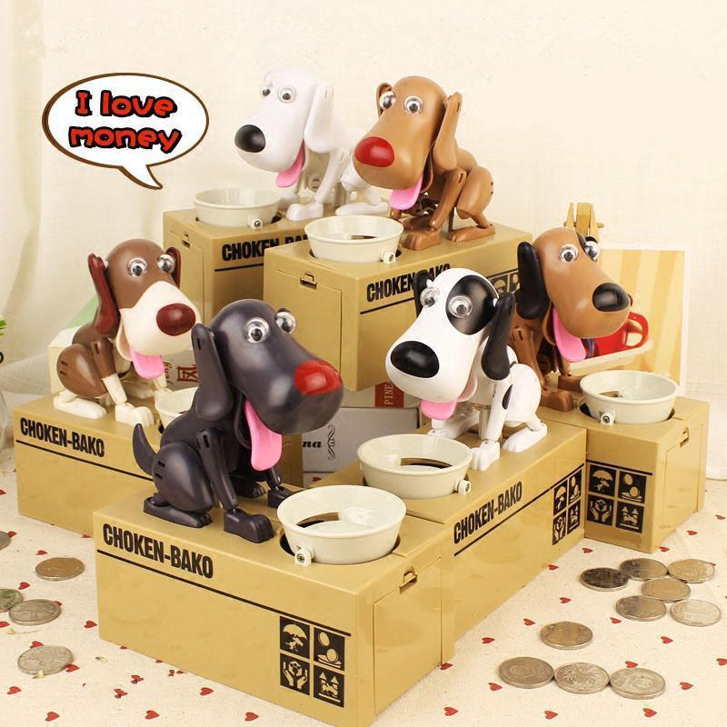Dog Coin Bank >>Dog Piggy Bank Also Children's Accompany Toy