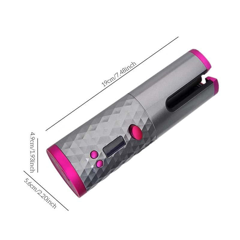 Wireless Portable Rotating Ceramic Hair Curler
