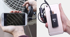 Wireless Endoscope WiFi Borescope Inspection Camera for iPhone & Android, Waterproof