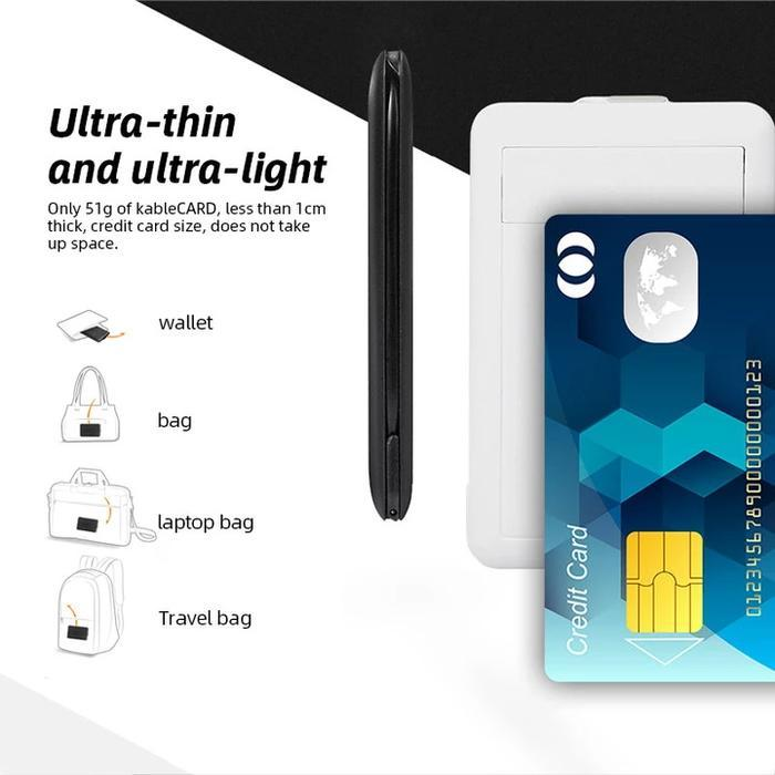 Multi-function Urban Multi-type Charging Cable Built-in Card Reader