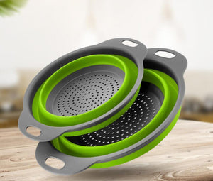 SQUEEZE COLLAPSIBLE STRAINER 2PCS SET
