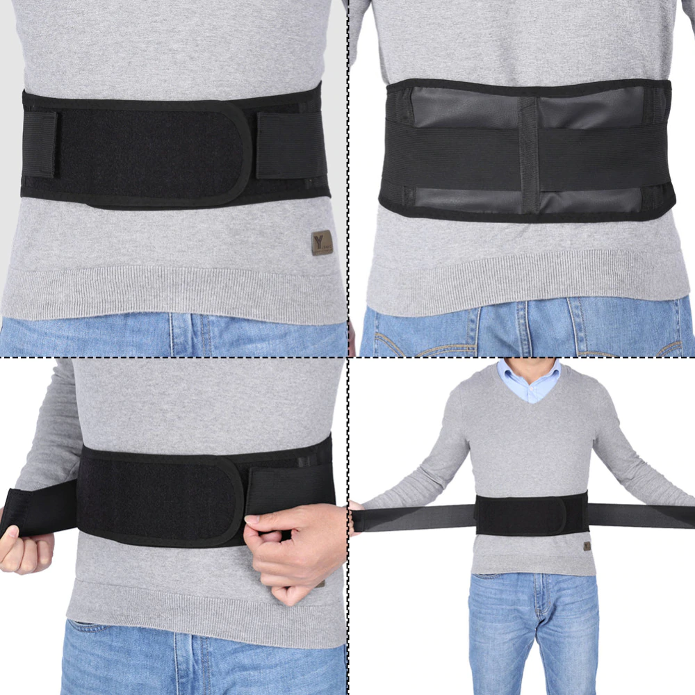 MAGNETIC & HEAT THERAPY LUMBAR SUPPORT - TOURMALINE SELF HEATING BELT