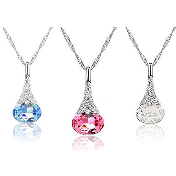 Crystal Water Drop Pendant - Florence Scovel - 1