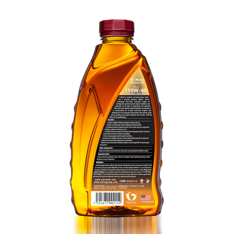 Image of Moto SAE 10W-40 Synthetic Blend 4T Engine Oil, API SL, JASO MA, MA2
