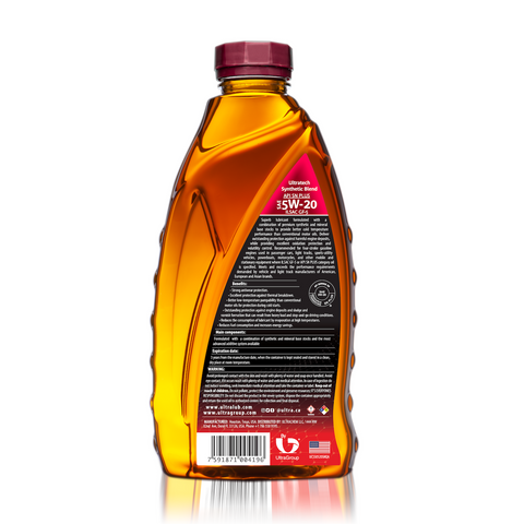 Image of Auto SAE 5W-20 Synthetic Blend Motor Oil, API SN Plus, ILSAC GF-5