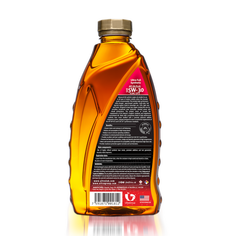 Image of Ultralub Auto SAE 5W-30 Full Synthetic Motor Oil, API SN Plus, ILSAC GF-5