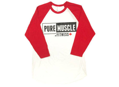Pure Baseball-T, Red Sleeve