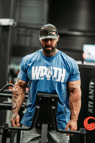 "Frank ""Wrath"" McGrath Legacy WRATH Blue T-Shirt"