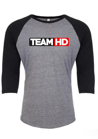 Team HD Baseball T Grey