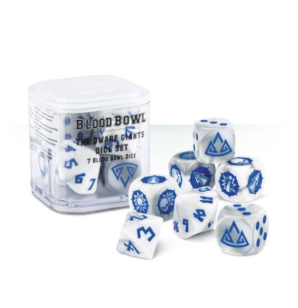 200-18 BLOOD BOWL: THE DWARF GIANTS DICE SET (re- release) | Misty Mountain Games