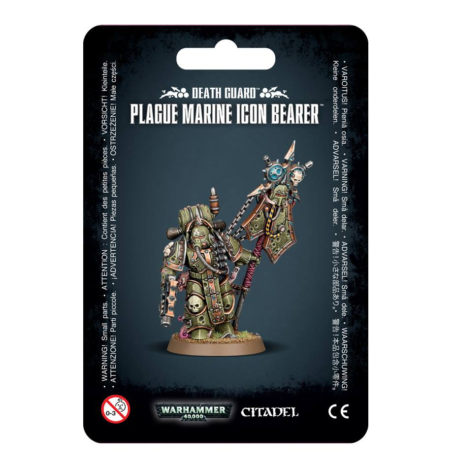 43-47 Warhammer 40000 Death Guard Plague Marine Icon Bearer | Misty Mountain Games
