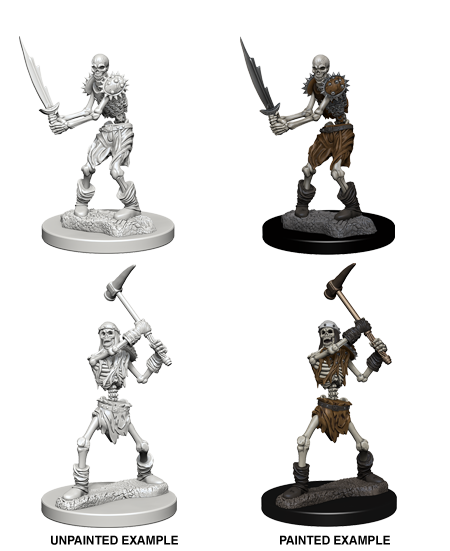 Unpainted Minis: W01: D&D: Skeletons | Misty Mountain Games