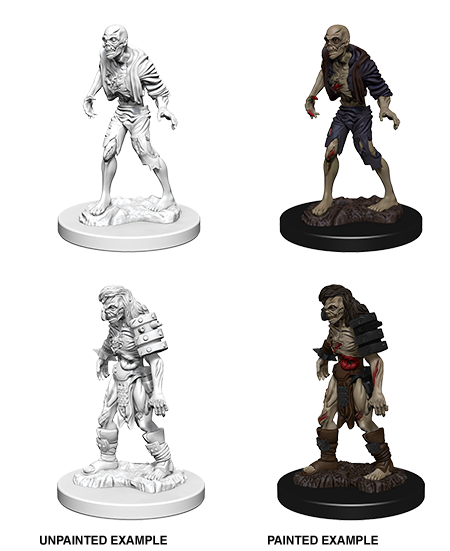 Unpainted Minis: W01: D&D: Zombies | Misty Mountain Games