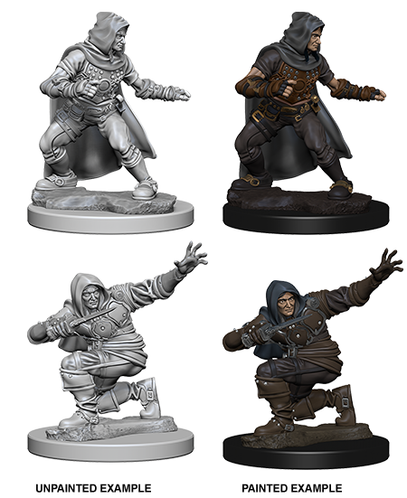 Unpainted Minis: W01: PF: Human Male Rogue | Misty Mountain Games