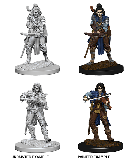 Unpainted Minis: W04: PF: Elf Female Bard | Misty Mountain Games