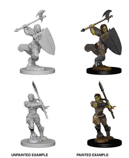Unpainted Minis: W01: PF: Half-Orc Female Barbarian | Misty Mountain Games