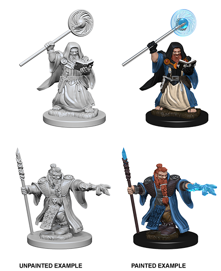 Unpainted Minis: W01: D&D: Dwarf Male Wizard | Misty Mountain Games