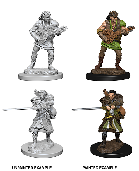 Unpainted Minis: W04: D&D: Human Male Bard | Misty Mountain Games