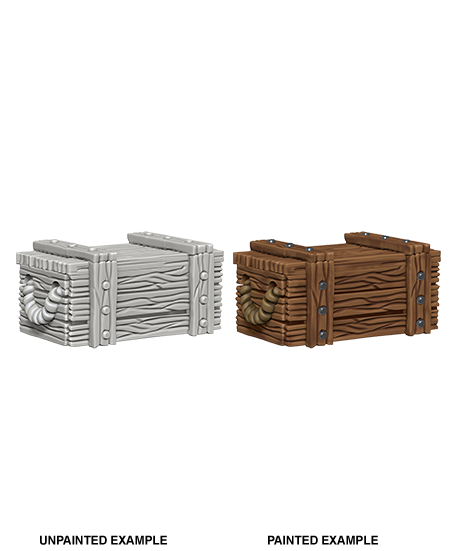Unpainted Minis: W04: WZK: Crates | Misty Mountain Games