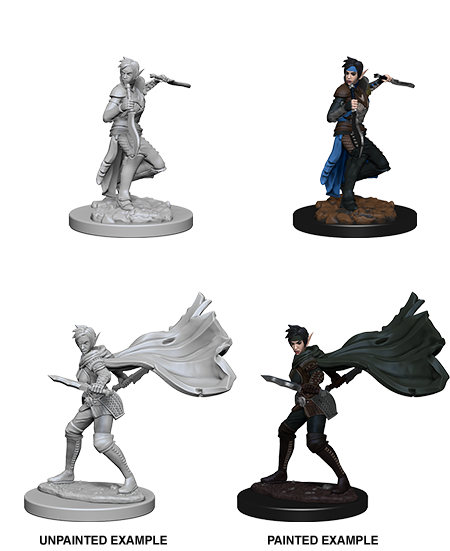 Unpainted Minis: W04: PF: Elf Female Rogue | Misty Mountain Games