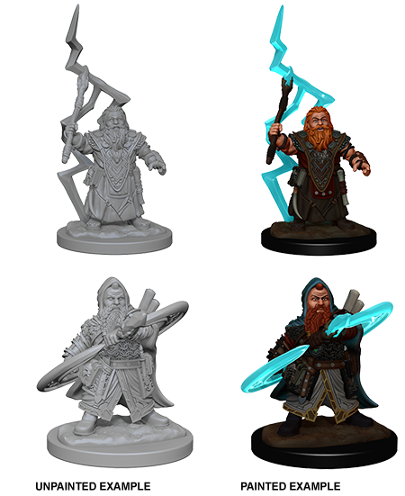 Unpainted Minis: W04: PF: Dwarf Male Sorcerer | Misty Mountain Games