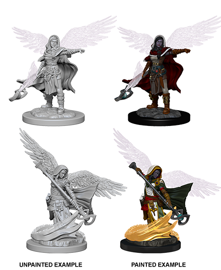 Unpainted Minis: W04: D&D: Aasimar Female Wizard | Misty Mountain Games