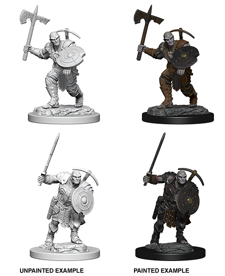 Unpainted Minis: W04: D&D: Earth Gensai Male Fighter | Misty Mountain Games