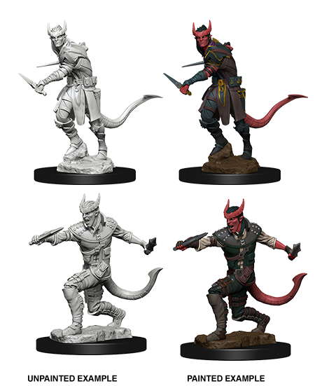 Unpainted Minis: W05: D&D: Tiefling Male Rogue | Misty Mountain Games