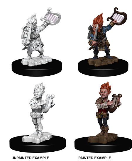 Unpainted Minis: W05: PF: Gnome Male Bard | Misty Mountain Games