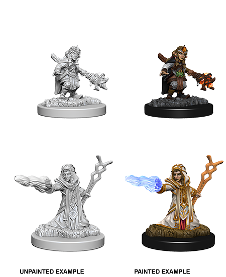 Unpainted Minis: W06: D&D: Gnome Female Wizard | Misty Mountain Games