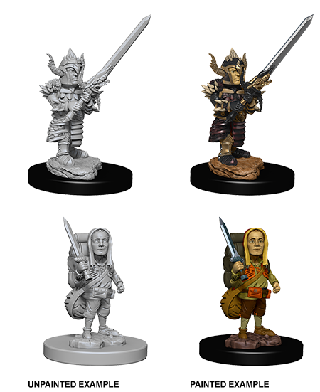 Unpainted Minis: W06: D&D: Halfling Male Fighter | Misty Mountain Games