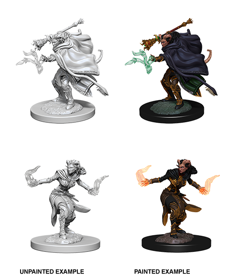 Unpainted Minis: W06: D&D: Tiefling Female Warlock | Misty Mountain Games