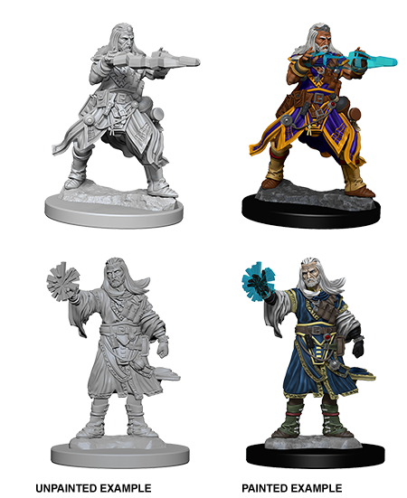 Unpainted Minis: W06: PF: Human Male Wizard | Misty Mountain Games