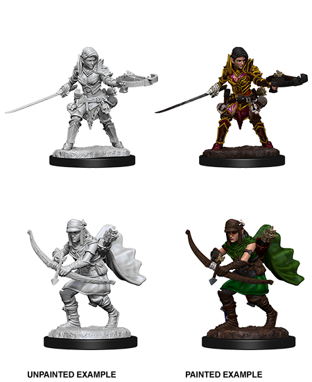 Unpainted Minis: W07: PF: Half-Elf Female Ranger | Misty Mountain Games