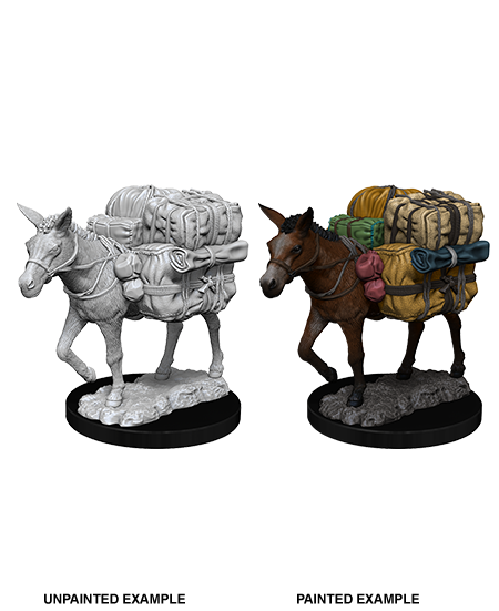 Unpainted Minis: W07: WZK: Pack Mule | Misty Mountain Games