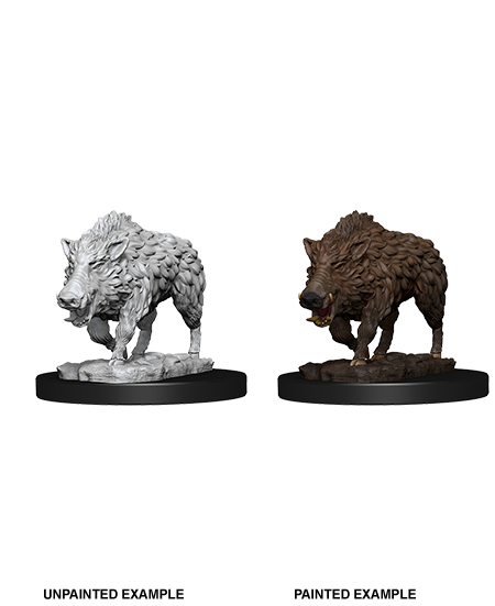 Unpainted Minis: W07: WZK: Wild Boar | Misty Mountain Games