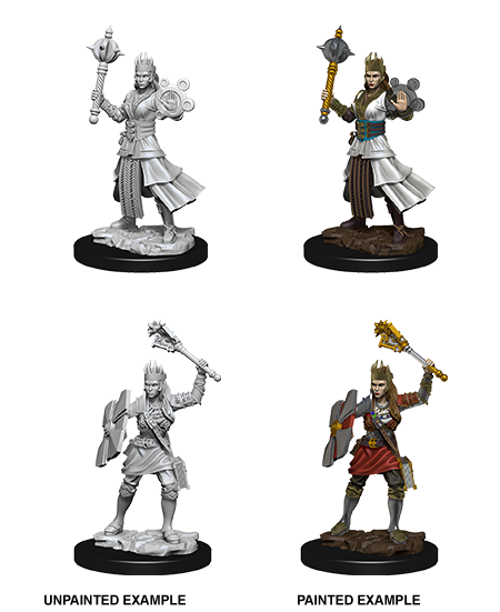Unpainted Minis: W08: D&D: Human Female Cleric | Misty Mountain Games