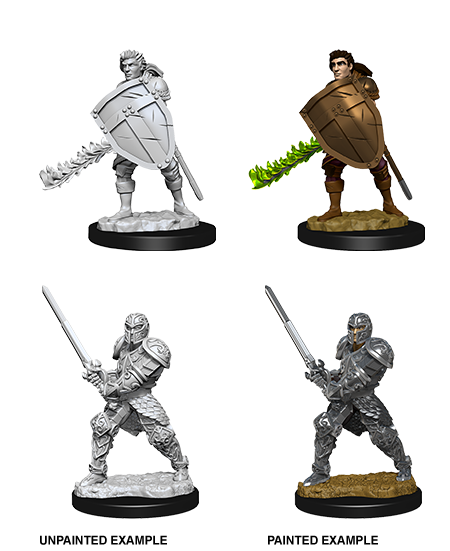 Unpainted Minis: W08: D&D: Human Male Fighter | Misty Mountain Games