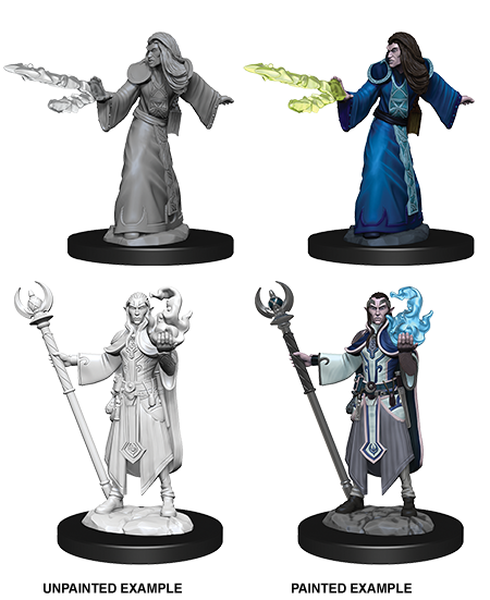 Unpainted Minis: W09: D&D: Elf Male Wizard | Misty Mountain Games