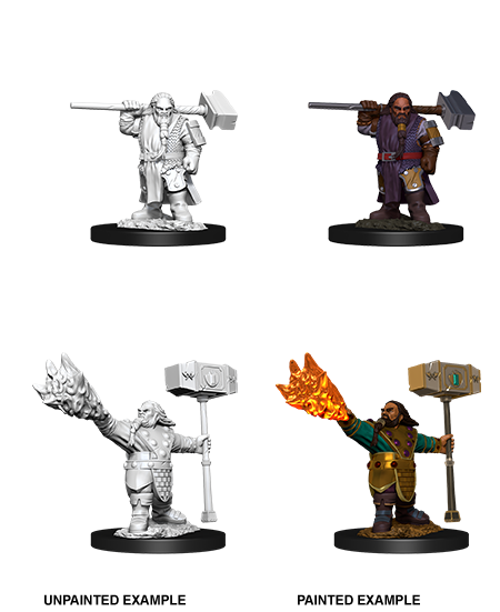 Unpainted Minis: W11: D&D: Dwarf Male Cleric | Misty Mountain Games